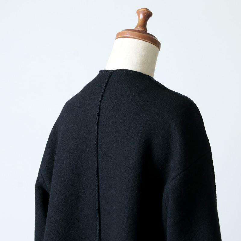 08sircus(ゼロエイトサーカス) Wool fulling knit blanket stitch coat