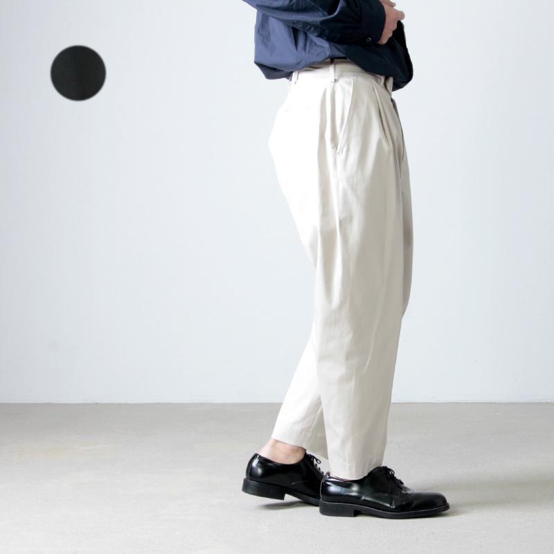 08sircus (ゼロエイトサーカス) Supima cotton gaberdine peg-top pants / スーピマコットンギャバジンペグトップパンツ