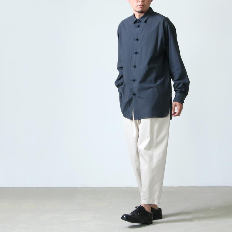 08sircus(ゼロエイトサーカス) Grunge cotton china shirts