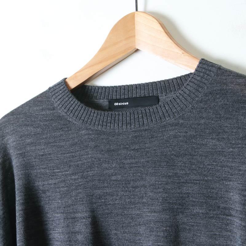 08sircus(ゼロエイトサーカス) 2way neck layered sweater