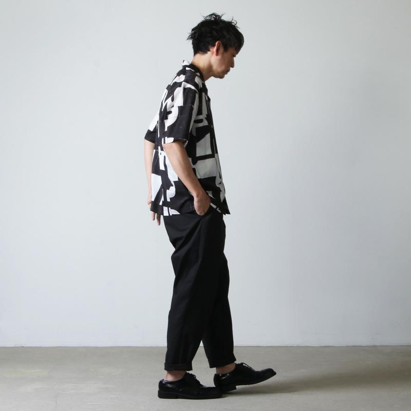 08sircus(ゼロエイトサーカス) Cu/C alphabet tile print shirt