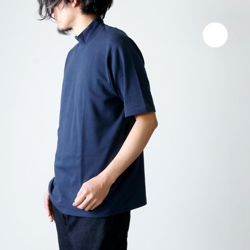 ANATOMICA (アナトミカ) MOCK NECK TEE S/S SOLID For Men / モックネックショーツスリーブティーソリッド
