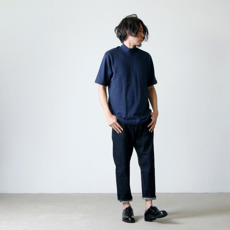 ANATOMICA(アナトミカ) MOCK NECK TEE S/S SOLID For Men