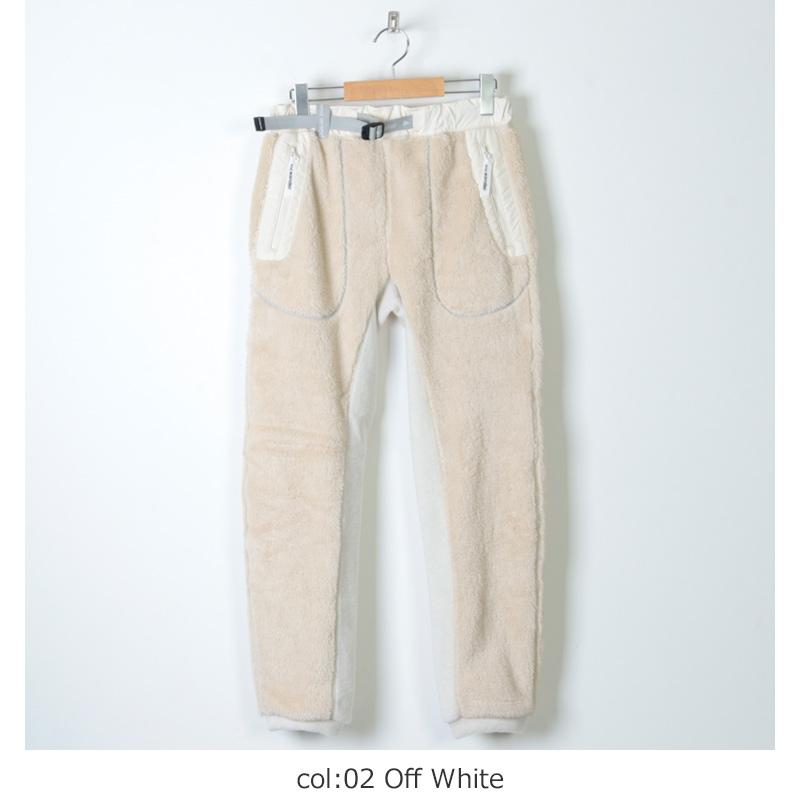and wander(アンドワンダー) high loft fleece long pants