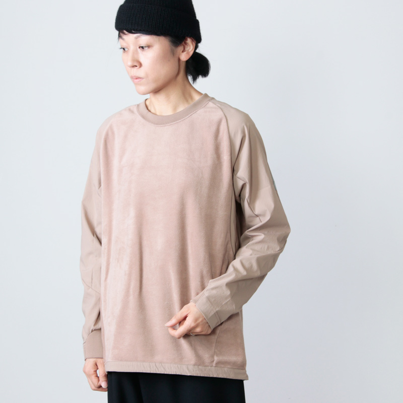 and wander(アンドワンダー) fleece base T