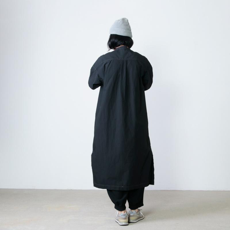and wander(アンドワンダー) CORDURA typewriter long shirt for women