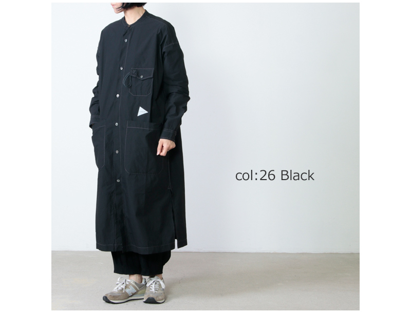 and wander(アンドワンダー) CORDURA typewriter long shirt for women