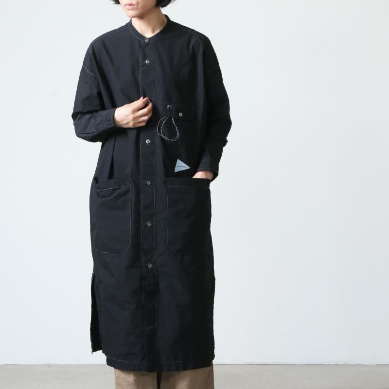 and wander(アンドワンダー) CORDURA typewriter long shirt for woman