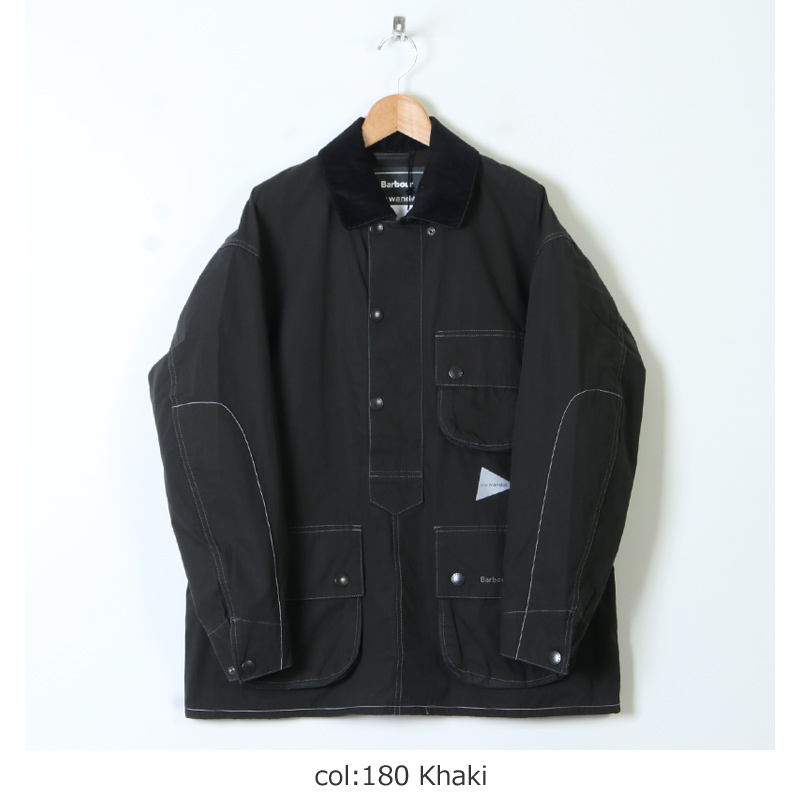 and wander(アンドワンダー) Barbour CORDURA solway shirt for woman