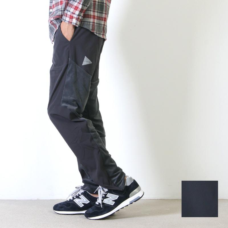 and wander (アンドワンダー) fleece base pants for man / フリースベースパンツ メンズ