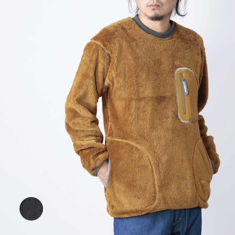 and wander (アンドワンダー) high loft fleece pullover for man / ハイロフトフリースプルオーバー メンズ
