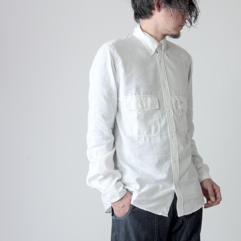 and wander (アンドワンダー) dry linen shirt for man / ドライリネンシャツ メンズ