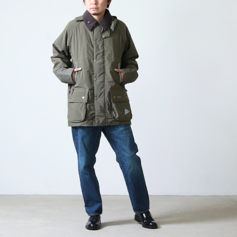 and wander(アンドワンダー) Barbour rip jacket