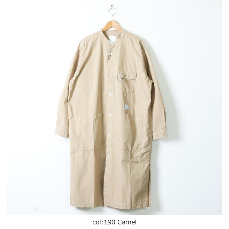 and wander(アンドワンダー) CORDURA typewriter long shirt for man