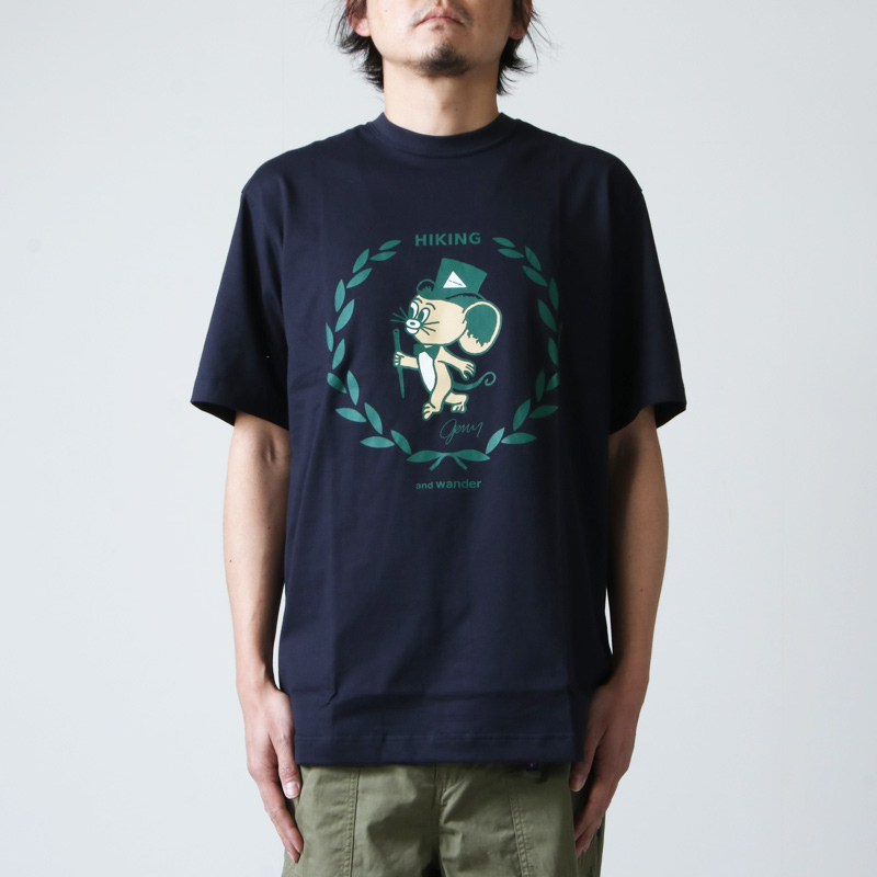 and wander(アンドワンダー) JERRY T by JERRY UKAI short  sleeve T for man