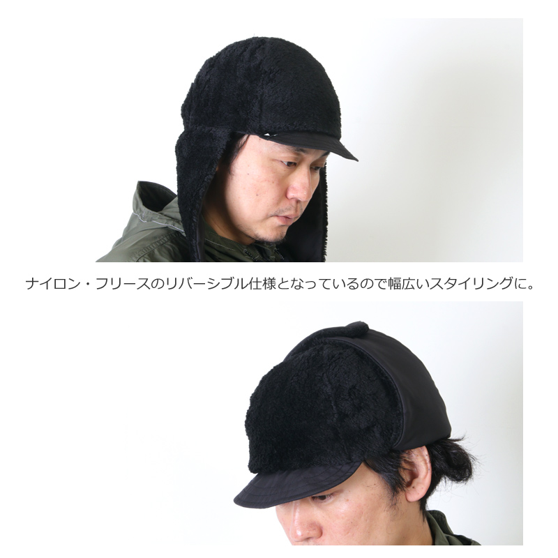 and wander(アンドワンダー) high loft fleece ear cap