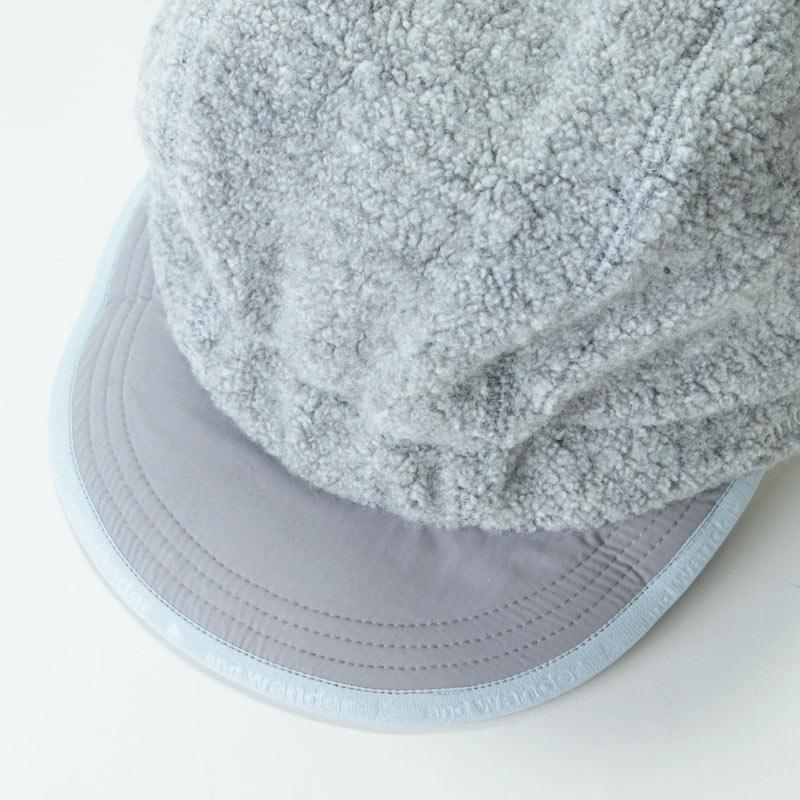 and wander(アンドワンダー) wool pile boa cap