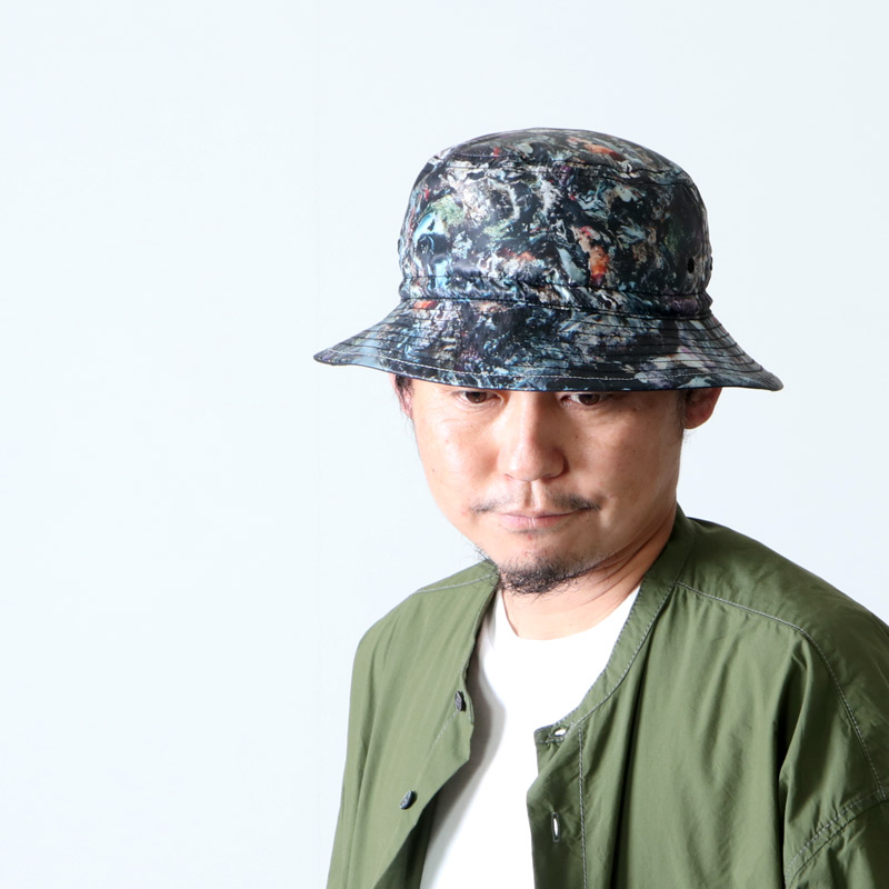and wander(アンドワンダー) stone printed rip hat