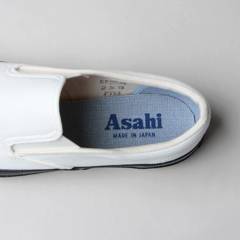 ASAHI(アサヒ) ASAHI DECK SLIP-ON WOMEN - MONOCHROME