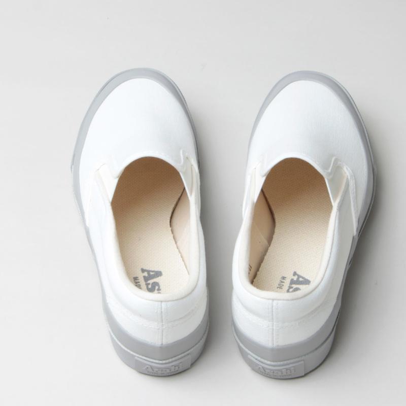 ASAHI(アサヒ) ASAHI DECK SLIP-ON WOMEN - WHITE / GRAY