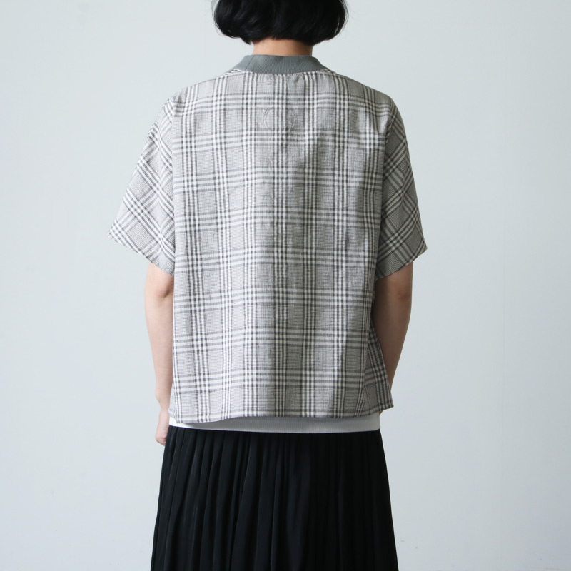 Atelier d'antan(アトリエ ダンタン) リブネックプルオーバー Tyndale Check