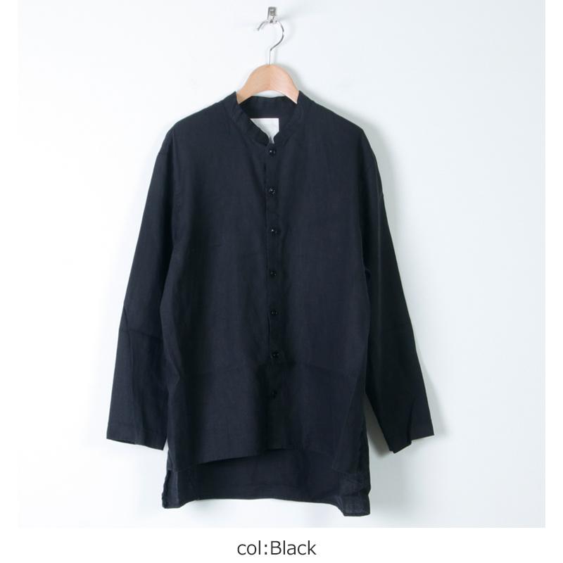 AUGUSTE PRESENTATION(オーギュストプレゼンテーション) リネンスタンドカラーシャツ