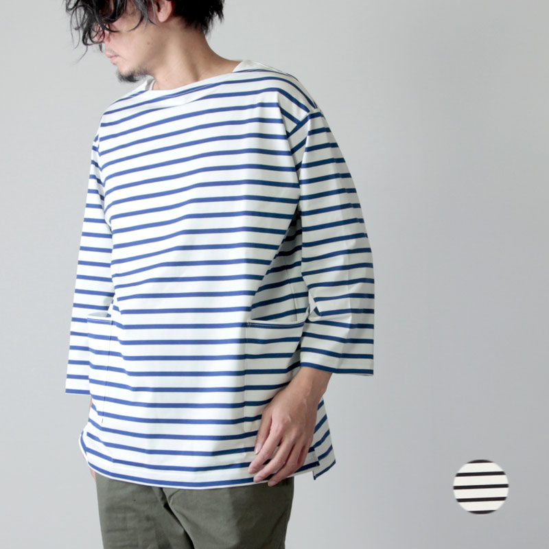 A VONTADE (ア ボンタージ) Boatneck 3/4 Sleeve Border / ボートネック3/4スリーブ ボーダー