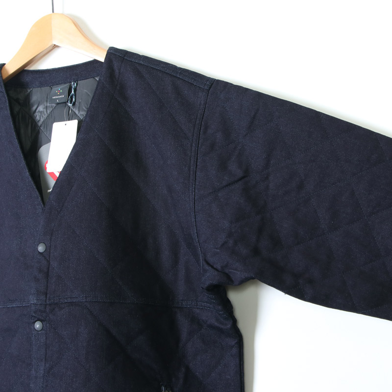 AXESQUIN(アクシーズクイン) DENIM QUILTED EASY CARDIGAN