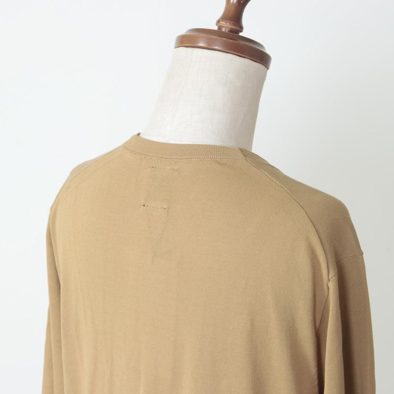 BATONER(バトナー) スーピマコットンツイスト半袖ロングカーディガン