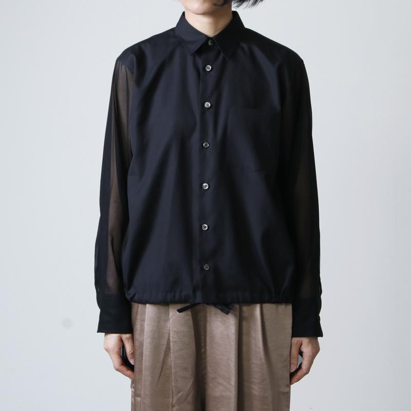 beautiful people(ビューティフルピープル) cotton typewriter drawstring shirt