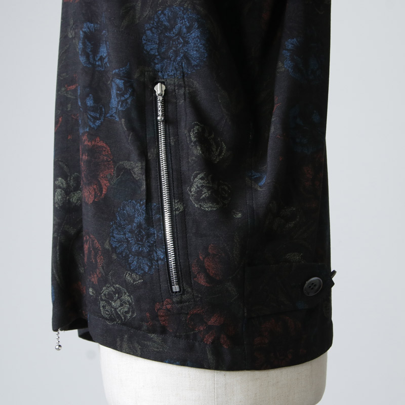 beautiful people(ビューティフルピープル) Wface flower print zip up shirt
