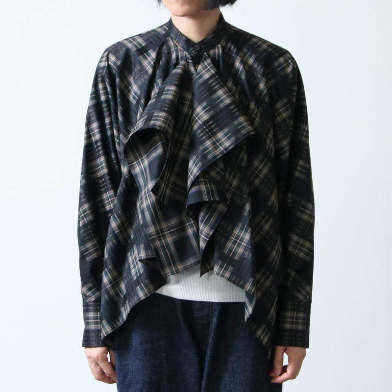 beautiful people(ビューティフルピープル) pipe plaid flare blouse