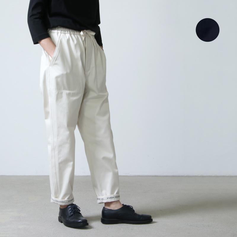 beautiful people (ビューティフルピープル) selvedge logo chino drawstring pants / セルヴィッチロゴテープチノドローイングパンツ
