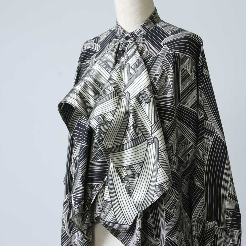 beautiful people(ビューティフルピープル) geometric satinflare blouse