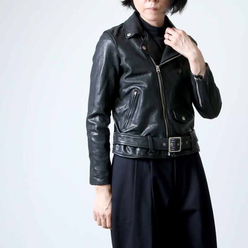 beautiful people (ビューティフルピープル) shrink leather riders jacket / シュリンクレザーライダースジャケット