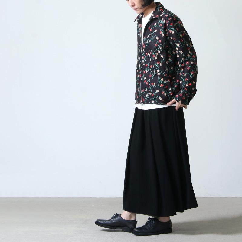 beautiful people (ビューティフルピープル)(ビューティフルピープル) Wface bloom print zip up shirt
