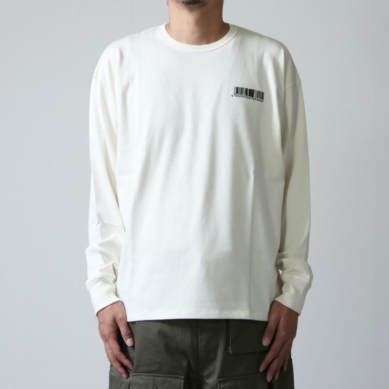 beautiful people(ビューティフルピープル) suvin pima jersey logo long-T shirts