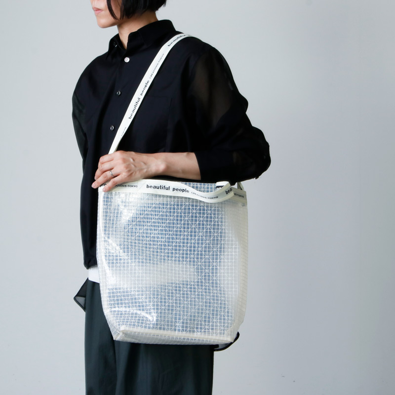 beautiful people(ビューティフルピープル) plaid vinyl logo tape shoulder bag