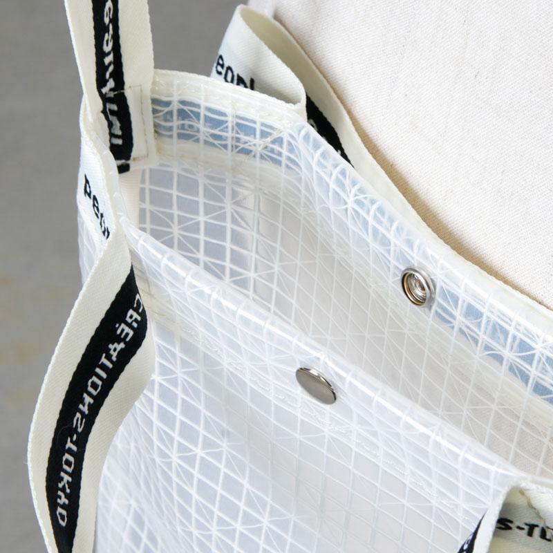 beautiful people(ビューティフルピープル) plaid vinyl logo tape sacoshe bag