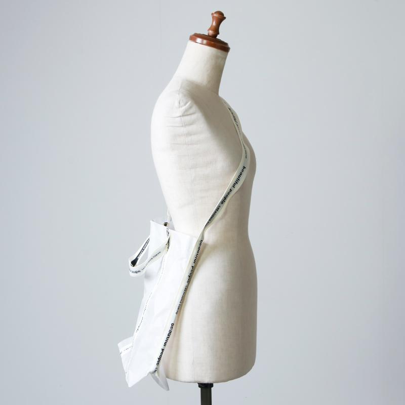 beautiful people(ビューティフルピープル) sail cloth logo tape shoulder bag