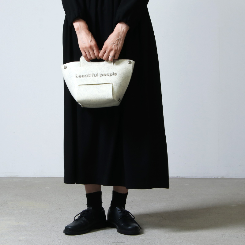 beautiful people(ビューティフルピープル) recycled felt constructive bag S