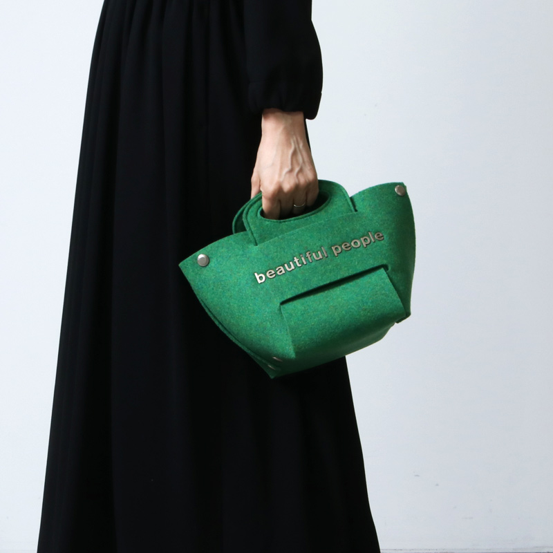 beautiful people(ビューティフルピープル) recycled felt constructive bag S