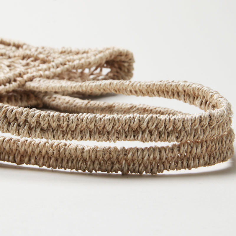 beautiful people(ビューティフルピープル) abaca knitting name tote