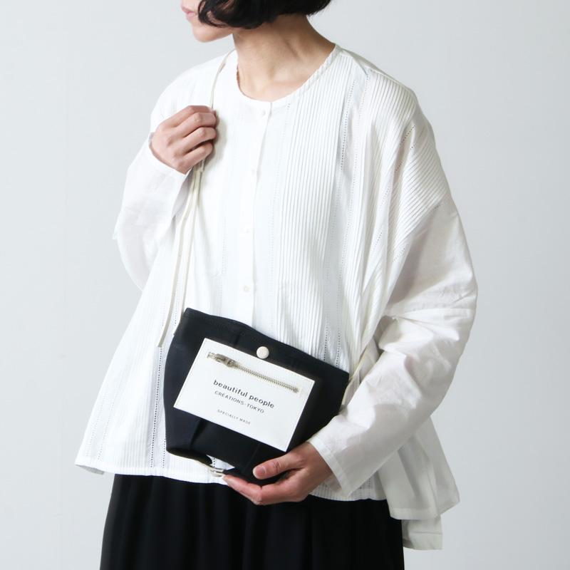 beautiful people(ビューティフルピープル) lining logo pocket mini shoulder bag