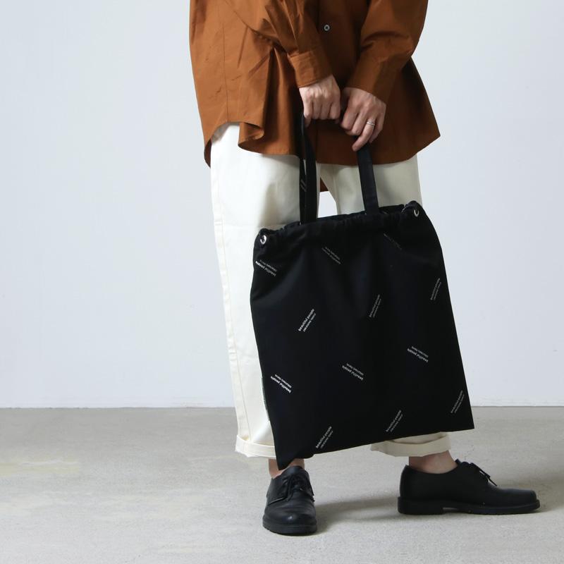 beautiful people(ビューティフルピープル) logo JQ drawstring 2way bag