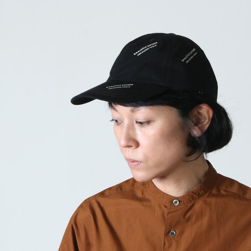 beautiful people(ビューティフルピープル) logo JQ solid big tag cap