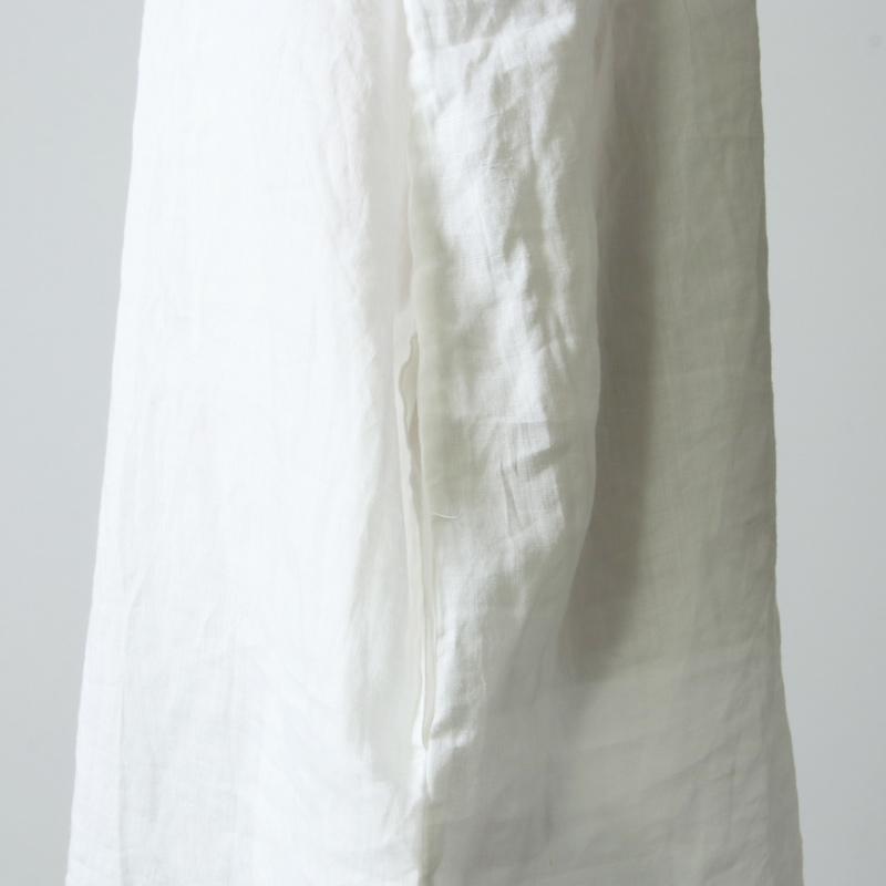 blanc basque(ブランバスク) ラミーローン パールボタンシャツワンピース