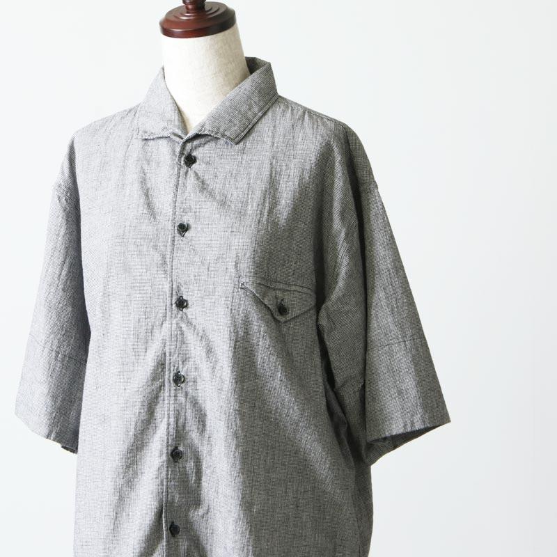 blanc basque(ブランバスク) コットンリネンチェックシャツ