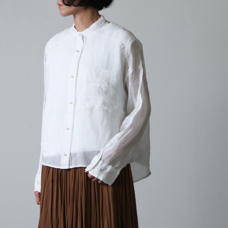 blanc basque(ブランバスク) ラミーローン パールボタンシャツ