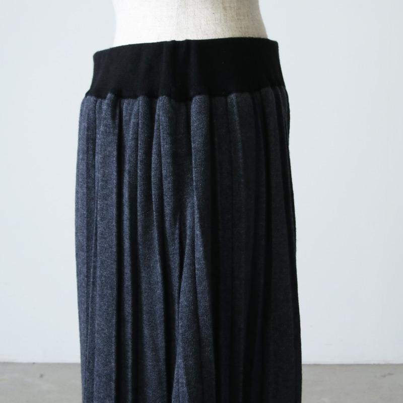 blanc basque(ブランバスク) ライン入りニットスカート